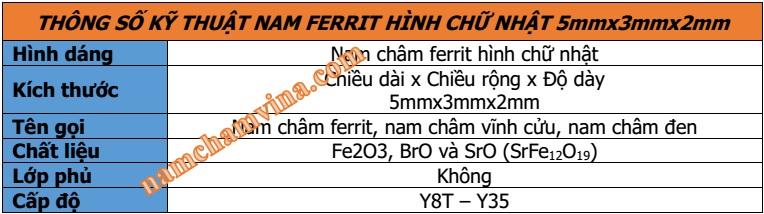 thong-so-ky-thuat-nam-cham-ferrite-chu-nhat-5mmx3mmx2mm