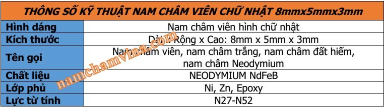 thong-so-ky-thuat-nam-cham-vien-hinh-chu-nhat-8mmx5mmx3mm