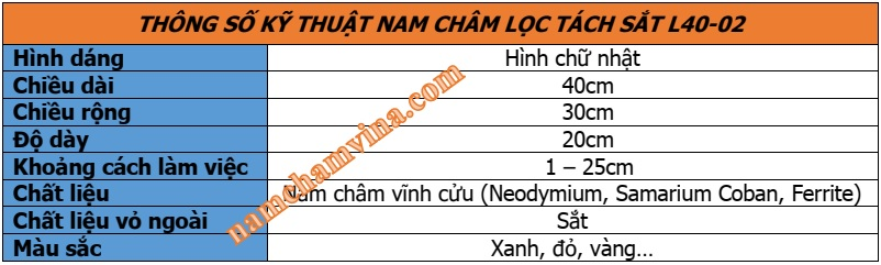 Thong-so-ky-thuat-nam-cham-loc-tach-sat-L40-02